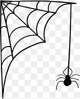 Spider web scary. Cobwebs vector png spide