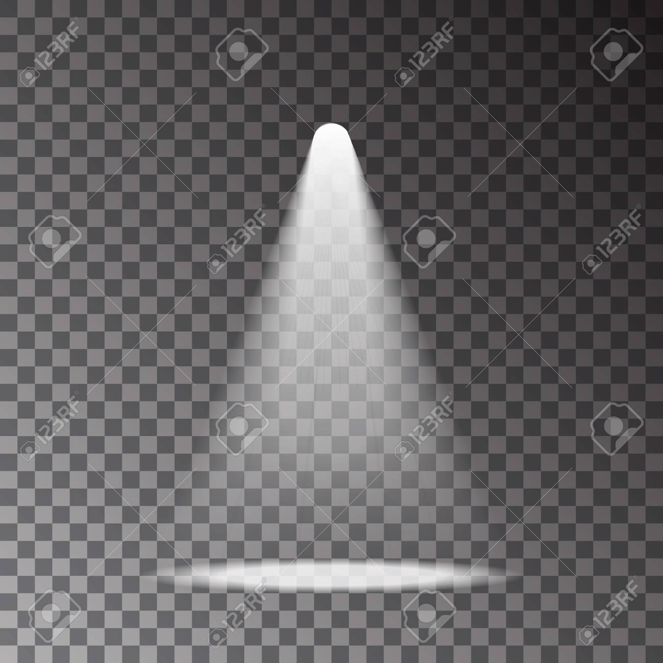 Light Rays Transparent - Scene With Light Ray Isolated On Transparent Background. Spotlight ...