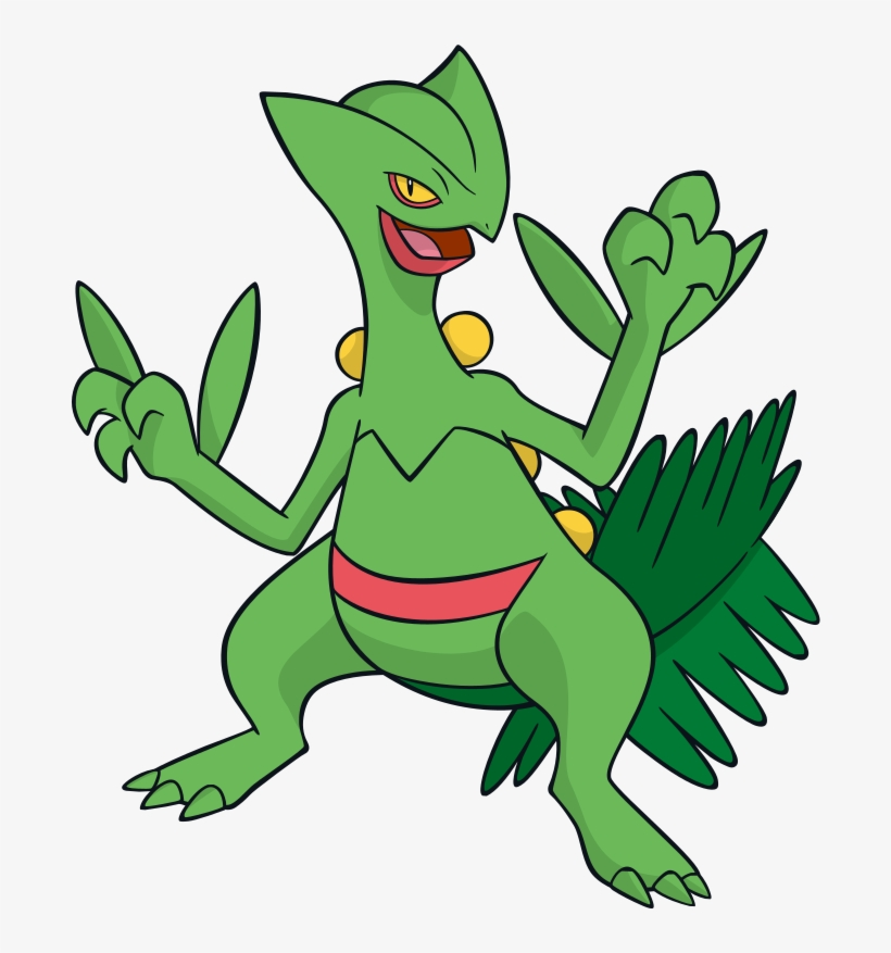Sceptile Png - Sceptile Global Link Artwork - Pokemon Sceptile PNG Image ...