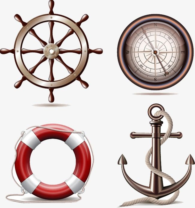 Lifebuoy With Anchor Png - Sea Tool, Sea Creative Tools, Rudder, Anchor PNG Transparent ...