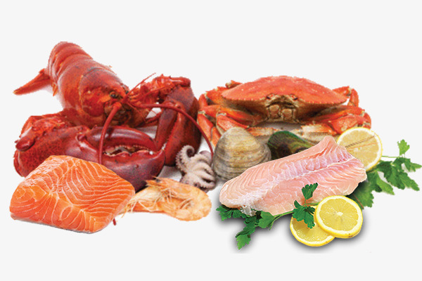 Fish And Seafood Png - Seafood And Meat, Food, Seafood, Fish An #54696 - PNG Images - PNGio