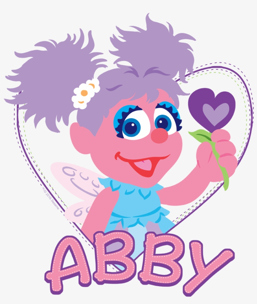 Sesame Street Flat Abby Baby Bodysuit 551092 Png Images