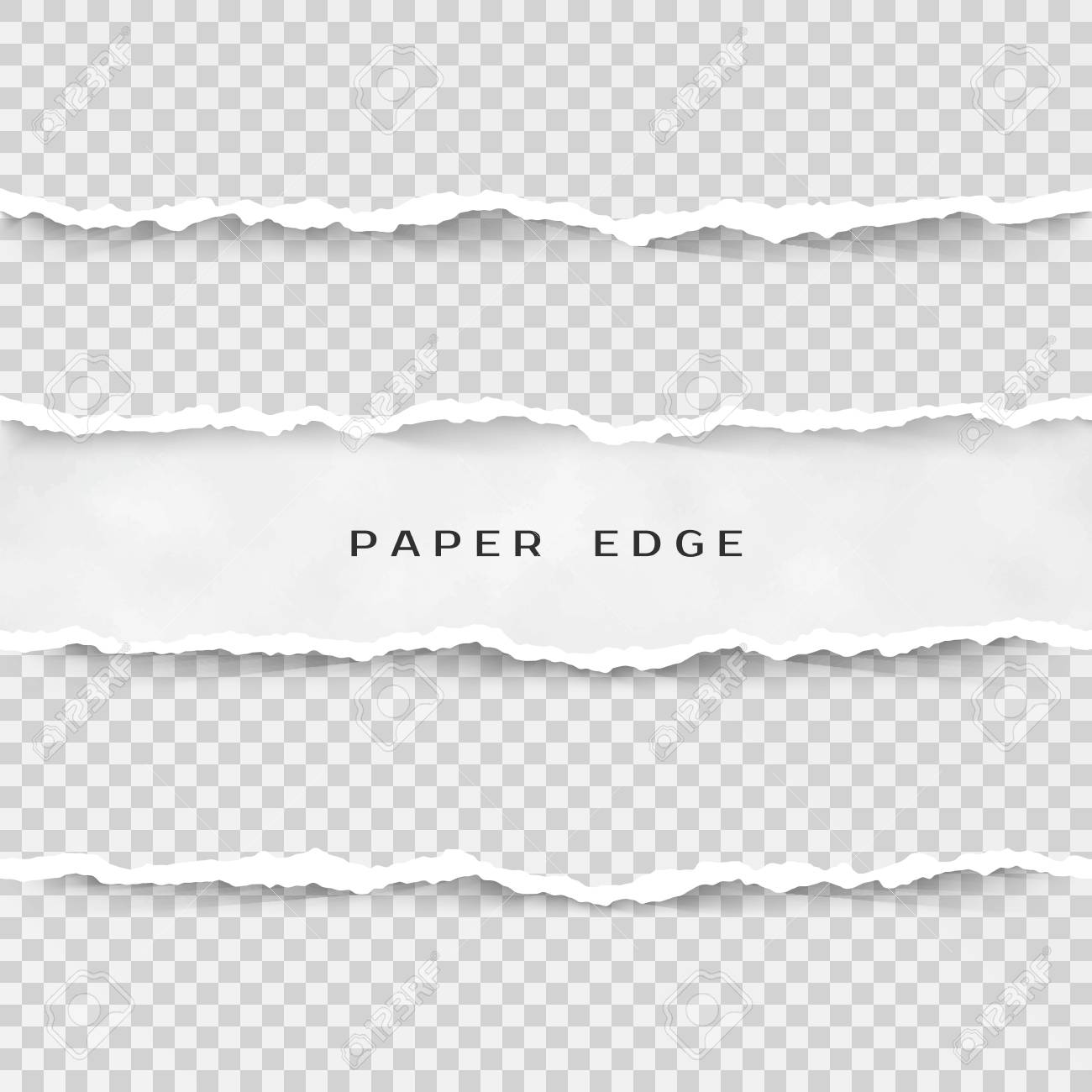 Torn Paper Texture - Set Of Torn Paper Stripes. Paper Texture With Damaged Edge ...