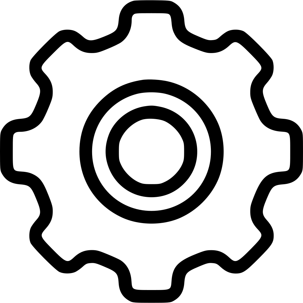 Settings Setup Gear Wheel Svg Png Icon F #126150 - PNG