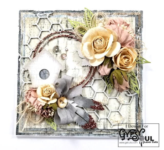 Shabby Chic Birdhouse Png - Shabby Chic Birdhouse Greeting Card | Polly's Paper Studio