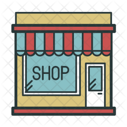 Retail Shopping Icon Png - Shop Icon of Colored Outline style - Available in SVG, PNG, EPS ...