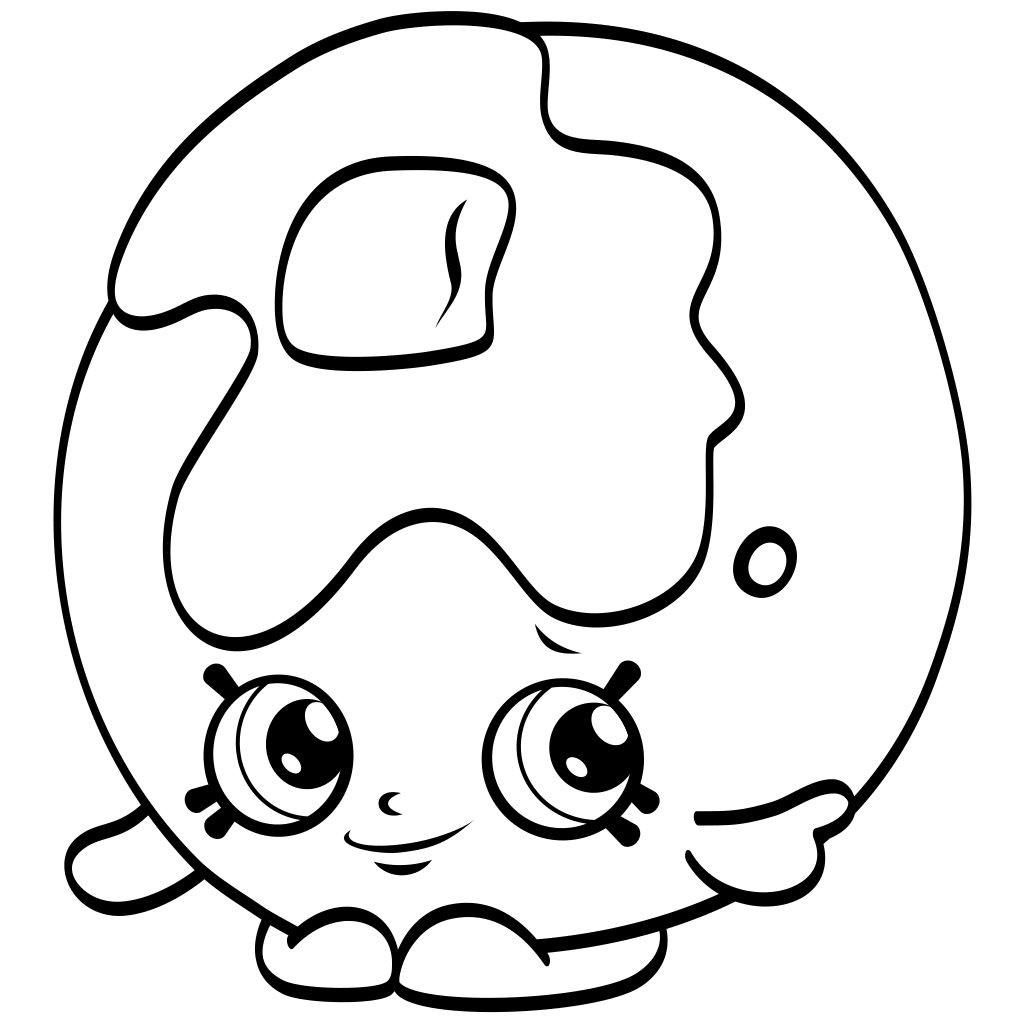 Shopkins Png Black And White amp
