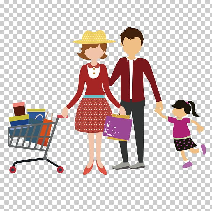 Shopping Family Png - Shopping Cart Family PNG, Clipart, Cartoon, Child, Clothing ...