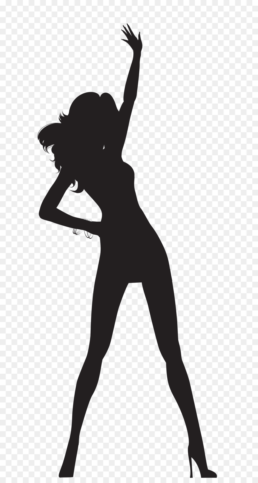 Silhouette Dance Clip Art Dancing Woma 325708 Png Images Pngio