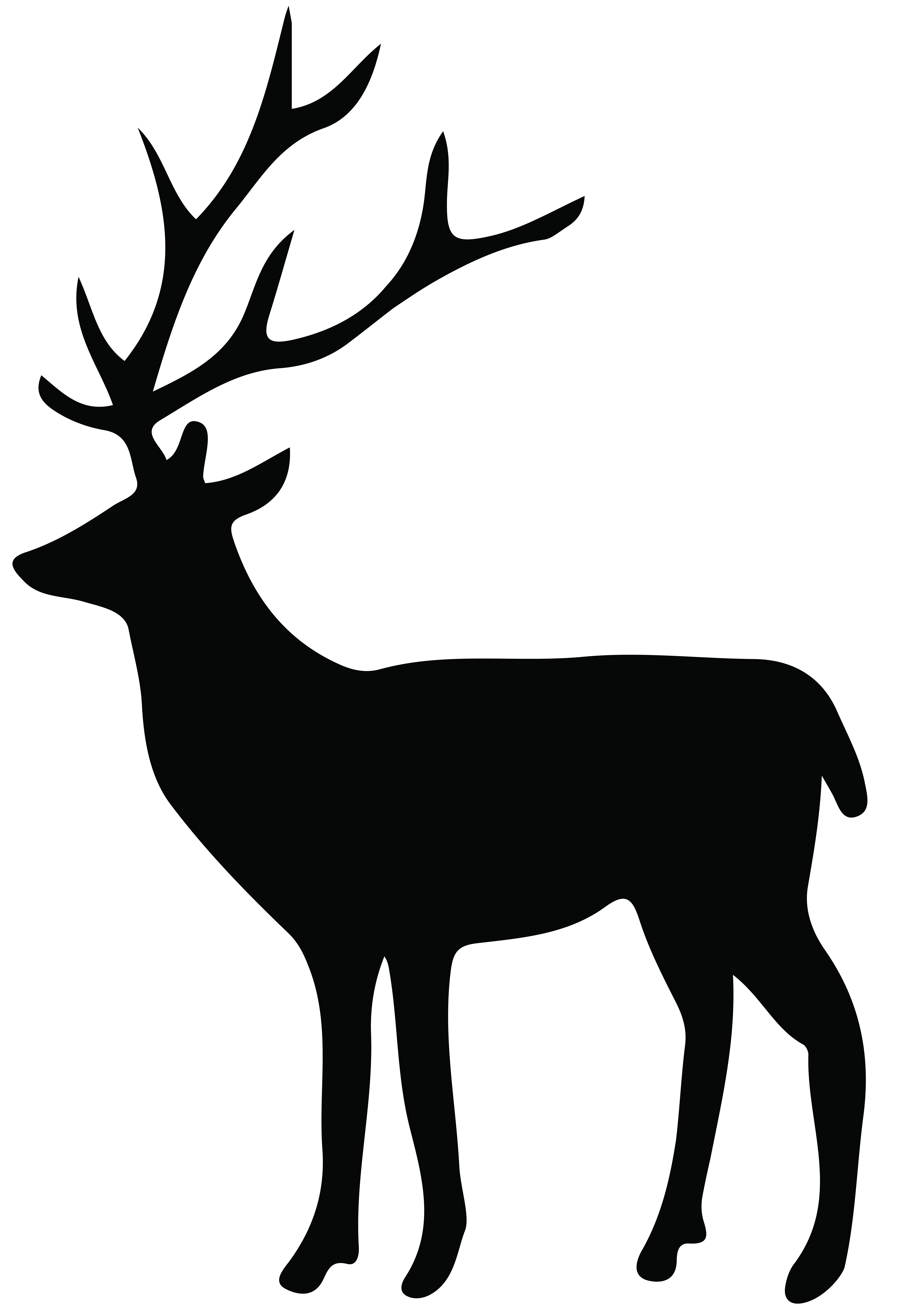 Fawn Silhouette Png - Silhouette Deer Png