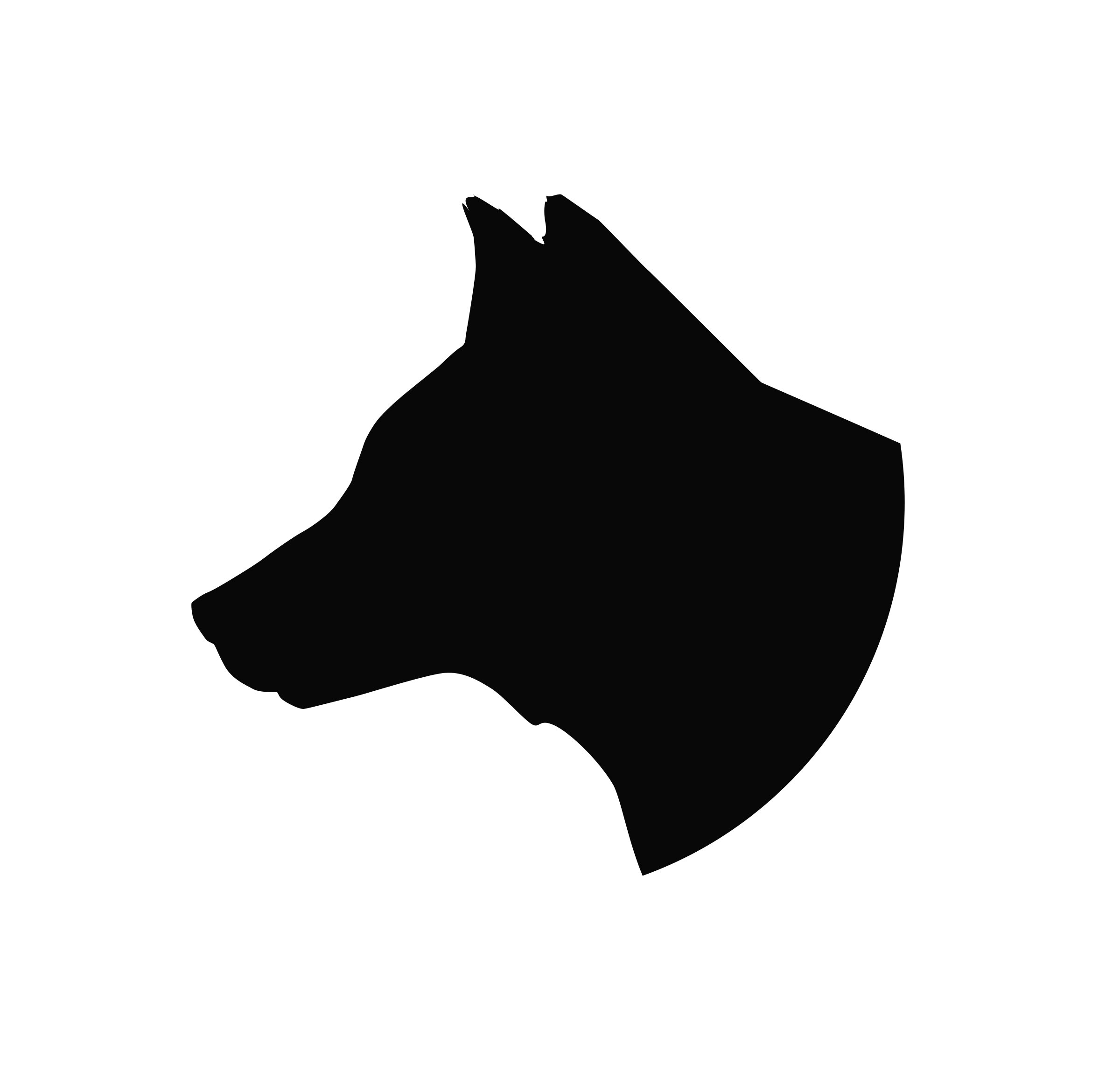 Wolf Head Silhouette Png - Silhouette Gray wolf Clip art - mean dog png download - 2400*2294 ...