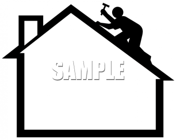 Roofing Man Png - Silhouette of a Man Putting Shingles on a Roof - Royalty Free Clip ...
