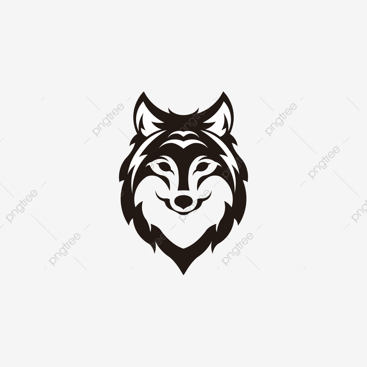 Wolf Vector - Silhouette Of The Wolf. Vector Logo. Wildlife. Wild Wolf. Vector ...