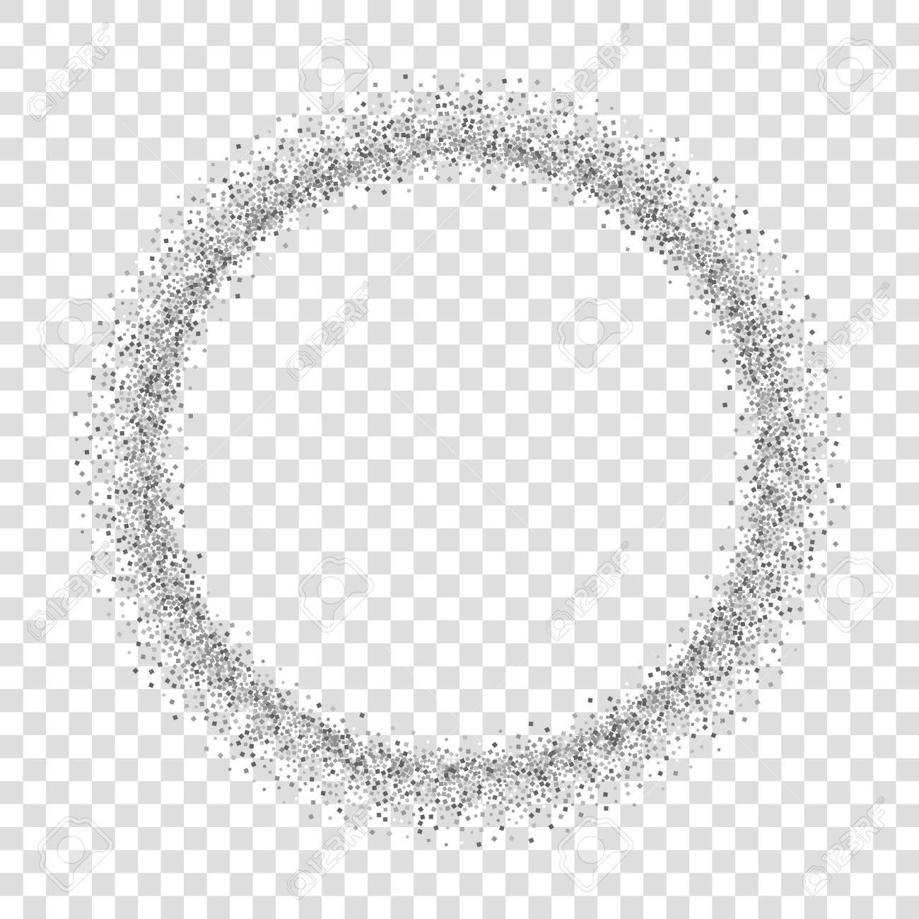 Circle Border Transparent - Silver Circle Isolated White Transparent Background. Round Frame ...