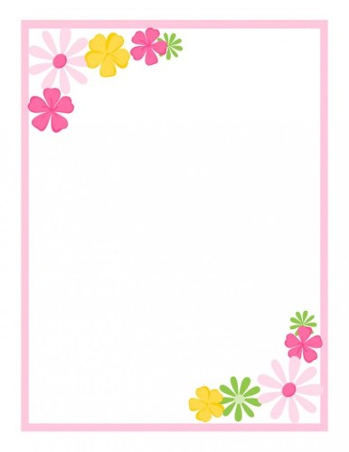 Simple Flower Border Designs For A4 Pape #846178 - PNG ...