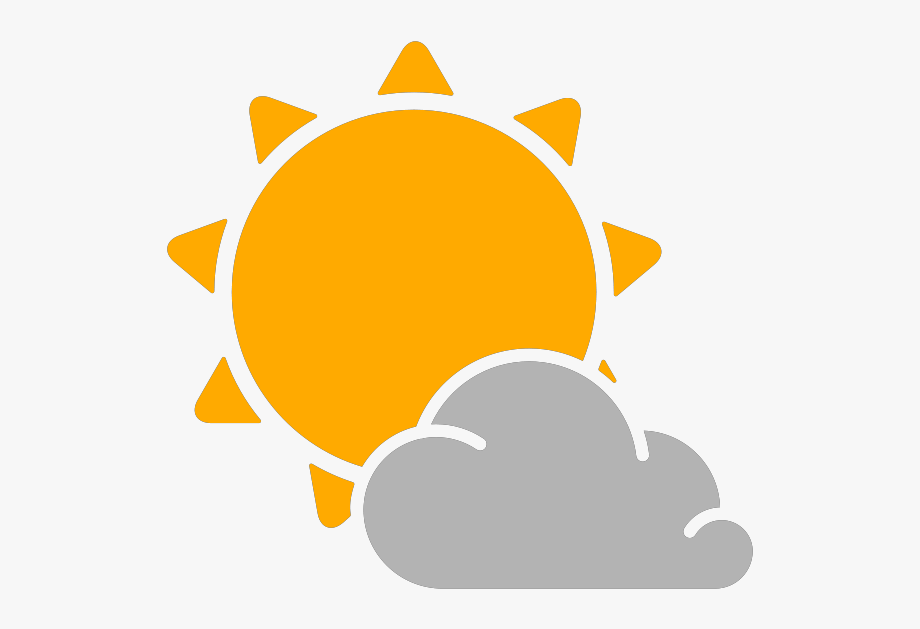 Partly Cloudy Weather Png - Simple Weather Icons Partly Cloudy Svg V #1158147 - PNG Images - PNGio