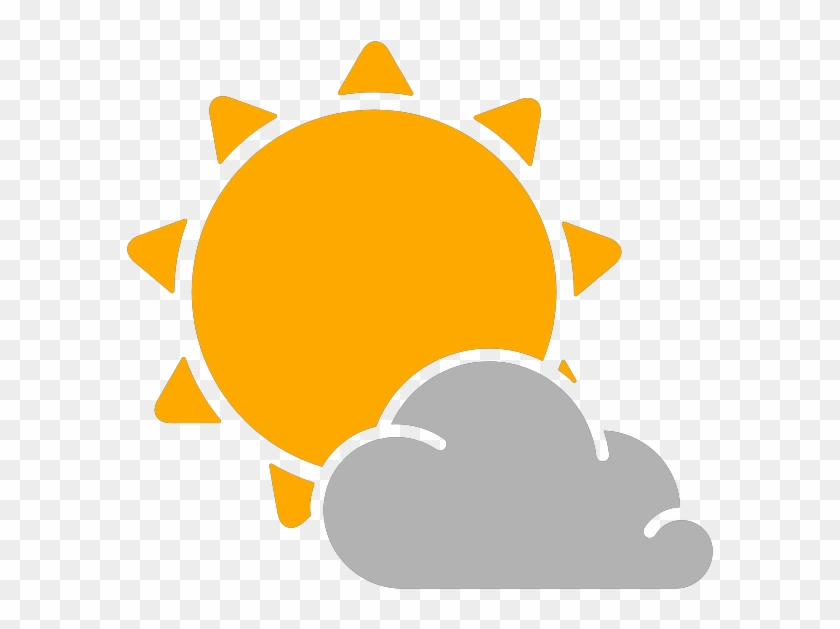 Partly Cloudy Weather Png - Simple Weather Icons Partly Cloudy - Weather Vector Png ...