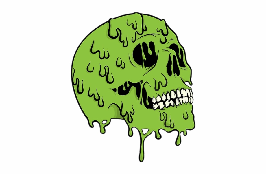 Cool Green Png - skull #zombie #toxic #urban #cool #art #green #colors - Slime ...