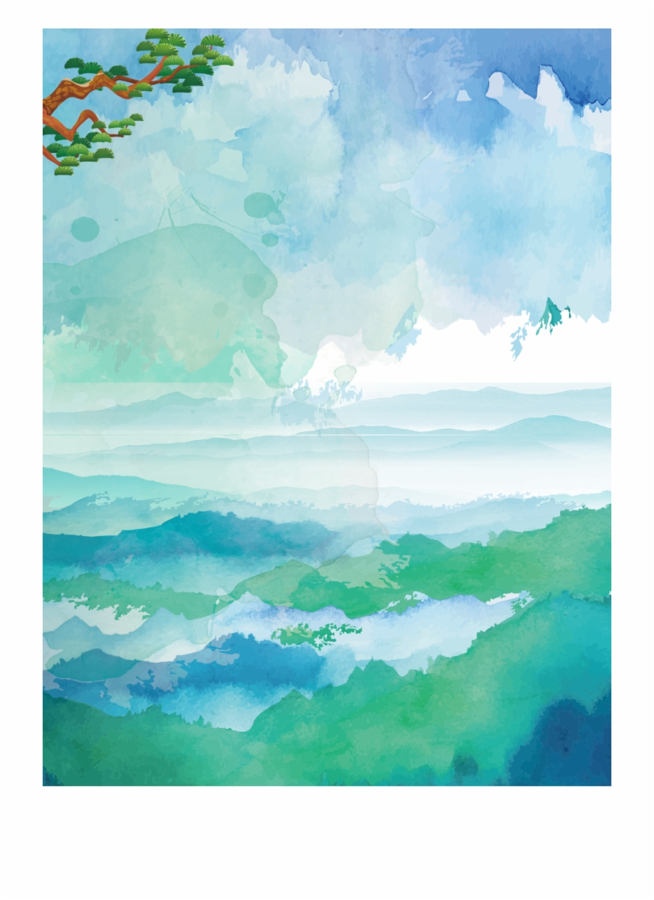 Watercolour Ocean Background - Sea Clipart (#1963596) - PikPng