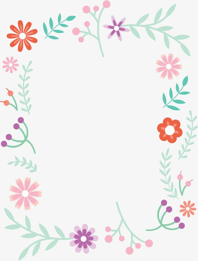 Cute Simple Png - Small Fresh Cute Borders, Vector Png, Small Fresh, Lovely Flowers ...