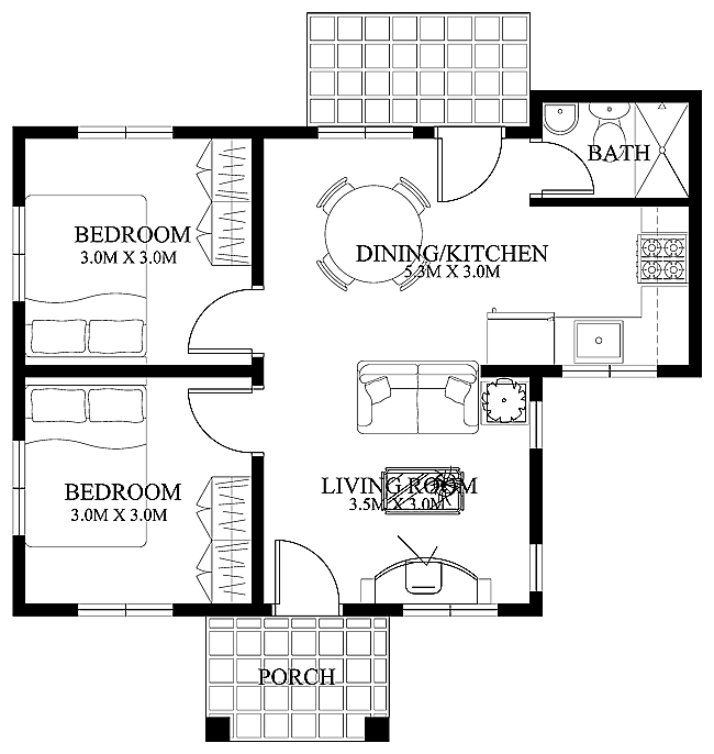 Simple Small House Floor Plans Png