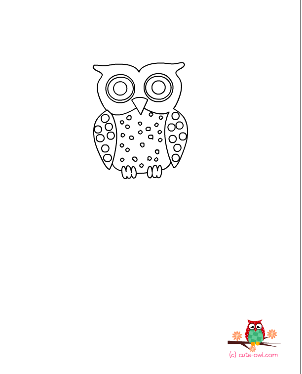 Cute Owl Coloring Pages Png - small owl coloring pages - Clip Art Library