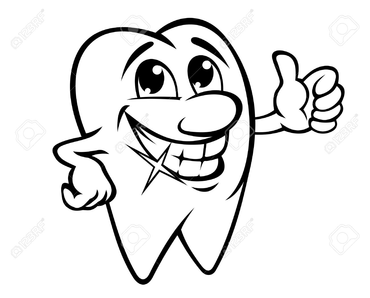 Smiling Tooth Png - Smiling Tooth In Cartoon Style Royalty Free Cliparts, Vectors, And ...