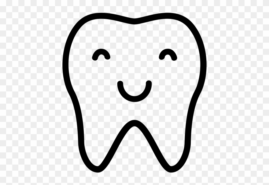 Smiling Tooth Png - Smiling Tooth Rubber Stamp - Smiling Tooth Clipart (#866061 ...