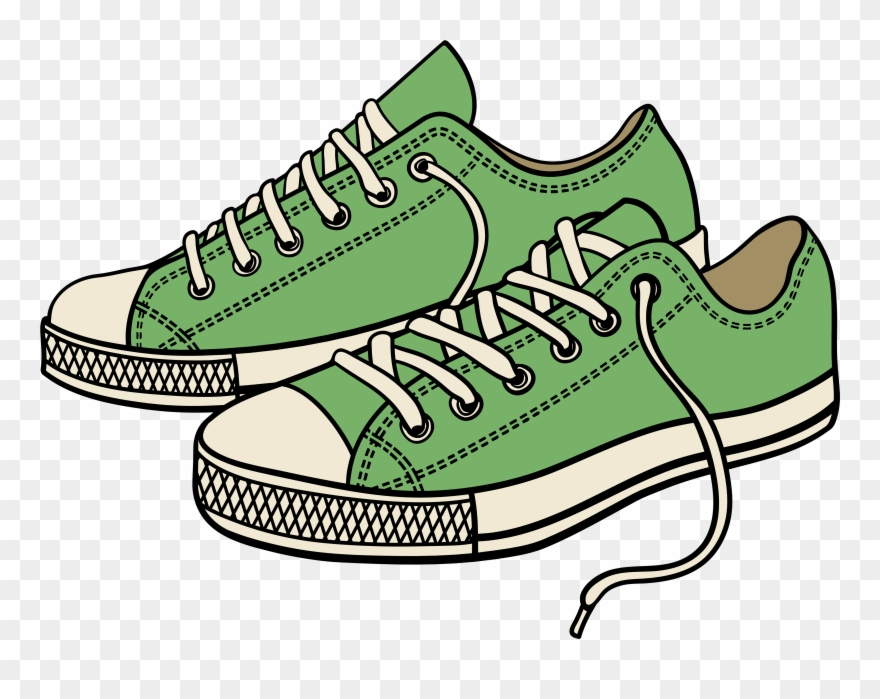 Shoes Clipart Png - Sneaker Tennis Shoes Clipart Black And White - Clipart Running ...