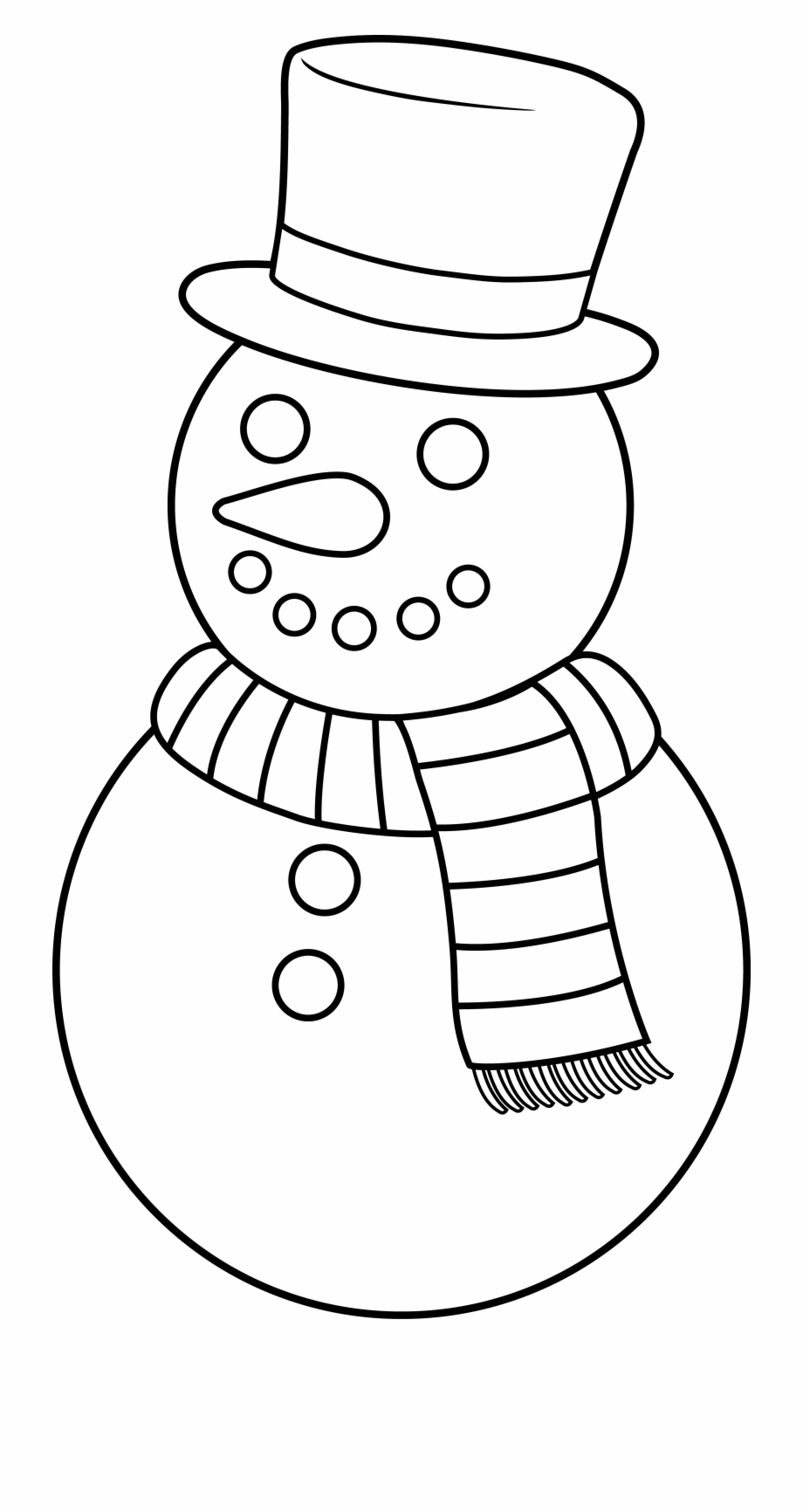 Black And White Snow Png - Snowman Clipart Outline - Snow Man Clip Art Black And White Free ...