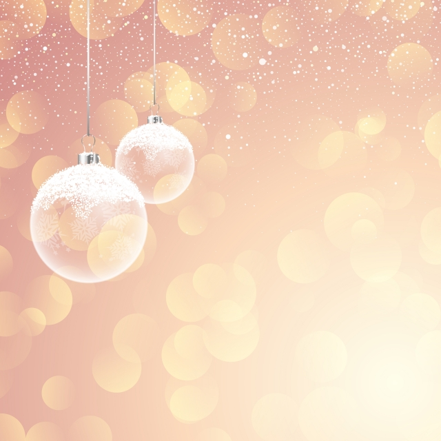 Snowy Christmas Backgrounds Png - Snowy Christmas Baubles On Bokeh Lights Background, Festive ...