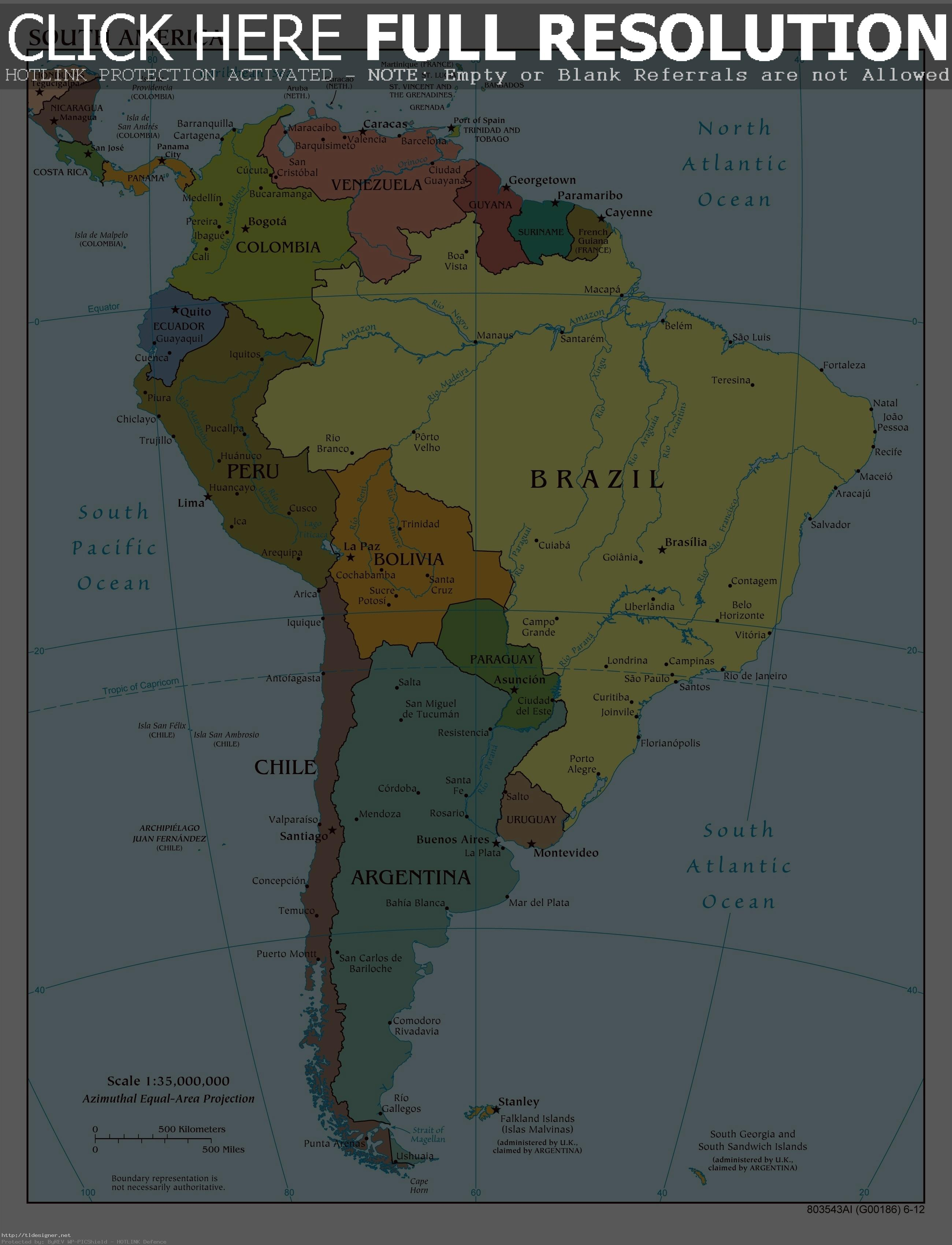 South America Physical Map Labeled Recen #554703 - PNG ...