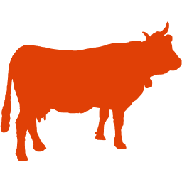 Red Number 2 And Cow Png - Soylent red cow 2 icon - Free soylent red animal icons