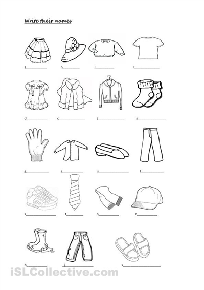 Spanish+Clothing+Worksheets+Free | Educa #233477 - PNG ...