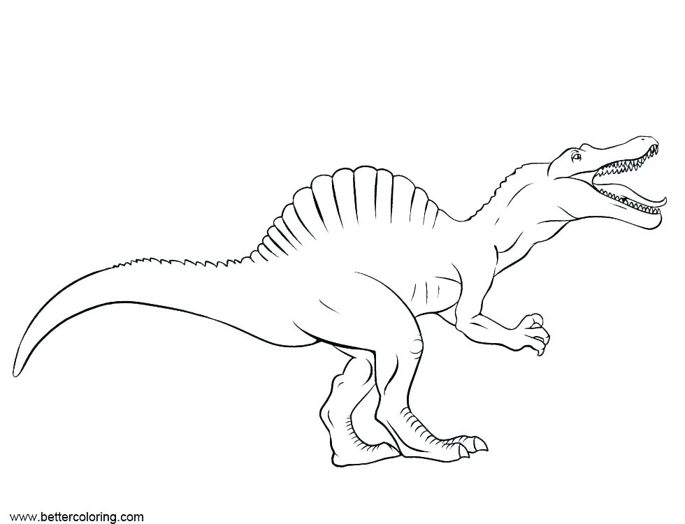 Spinosaurus Coloring Pages To Print – #779838 - PNG Images ...