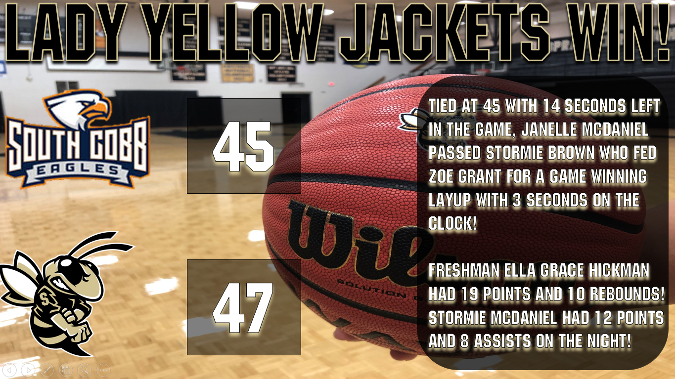 Game Tied Basketball Png - Sprayberry - Team Home Sprayberry Yellow Jackets Sports