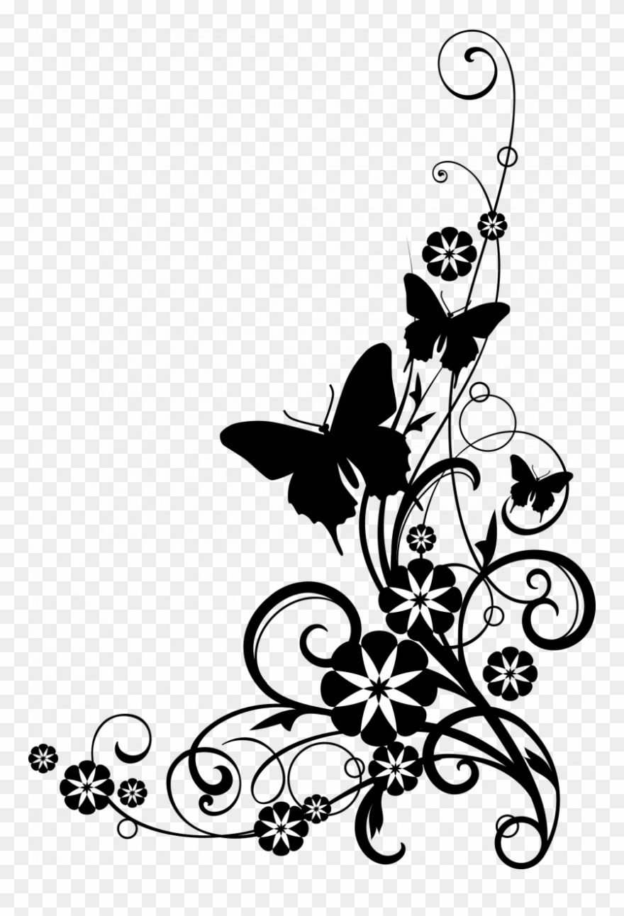 Flower black and white transparent. Spring flowers png free