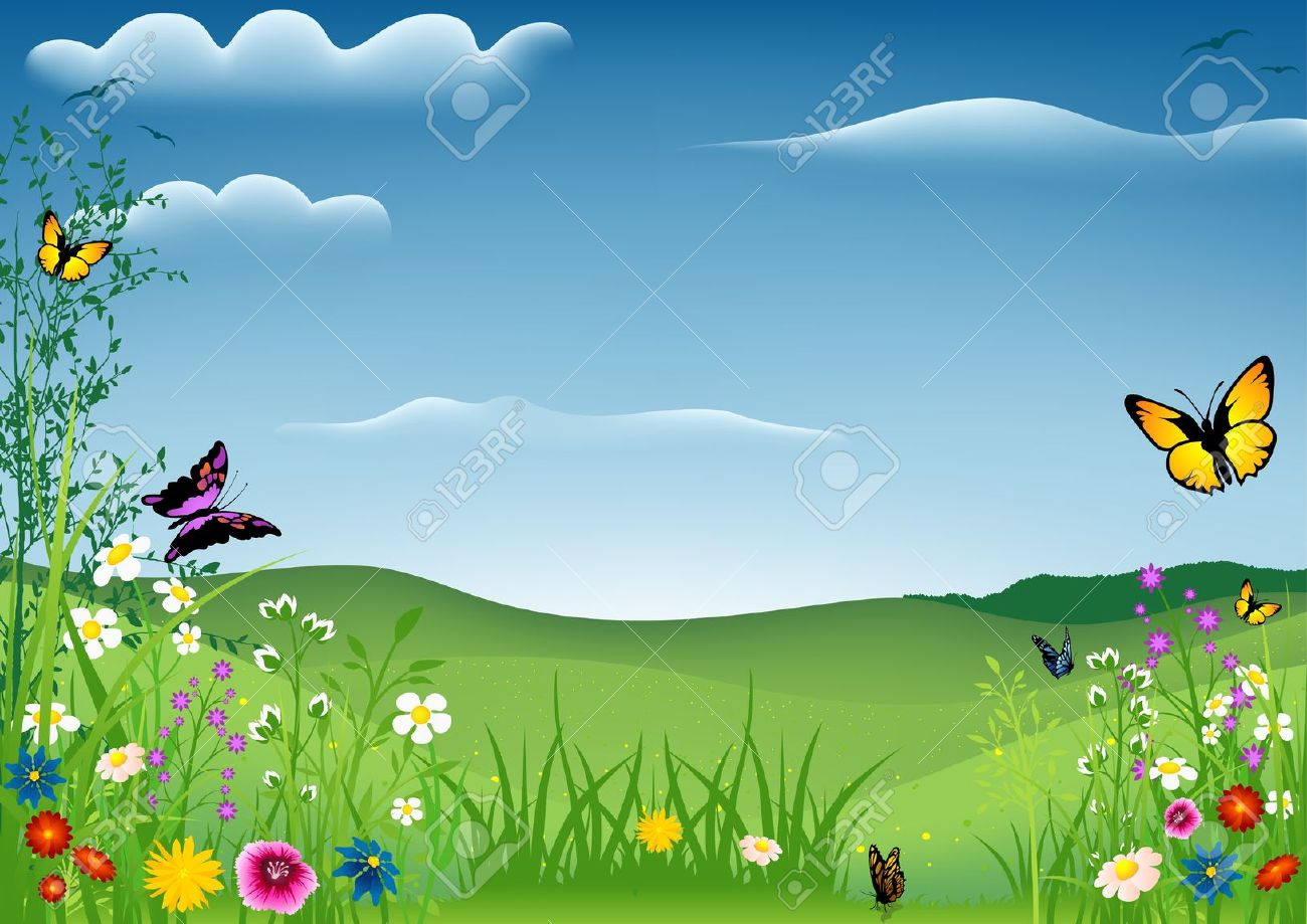 Spring Meadow Clipart