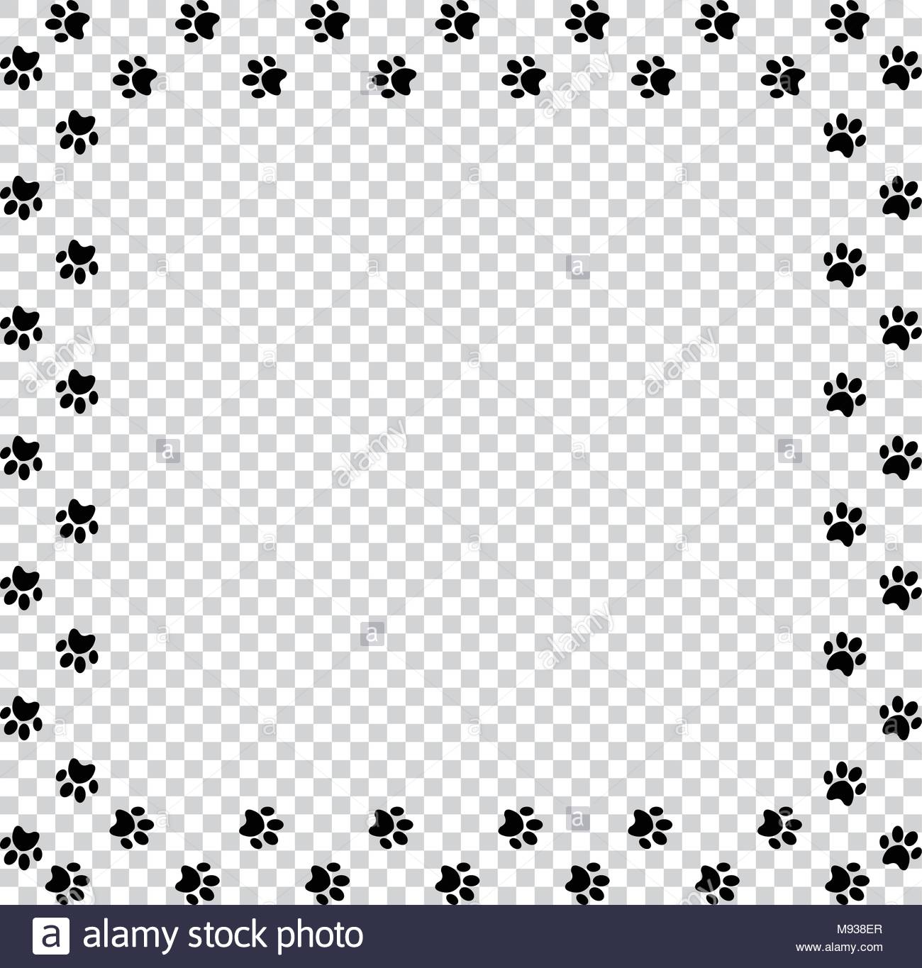 Square Frame Made Of Black Animal Paw Pr 703509 Png Images Pngio Here you can explore hq paw print transparent illustrations, icons and clipart with filter setting like size, type, color etc. pngio com