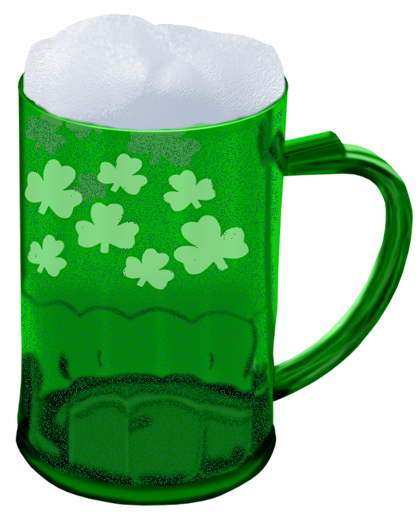 Green Beer Png - St Patrick Green Beer with Shamrocks PNG Picture​ | Gallery ...