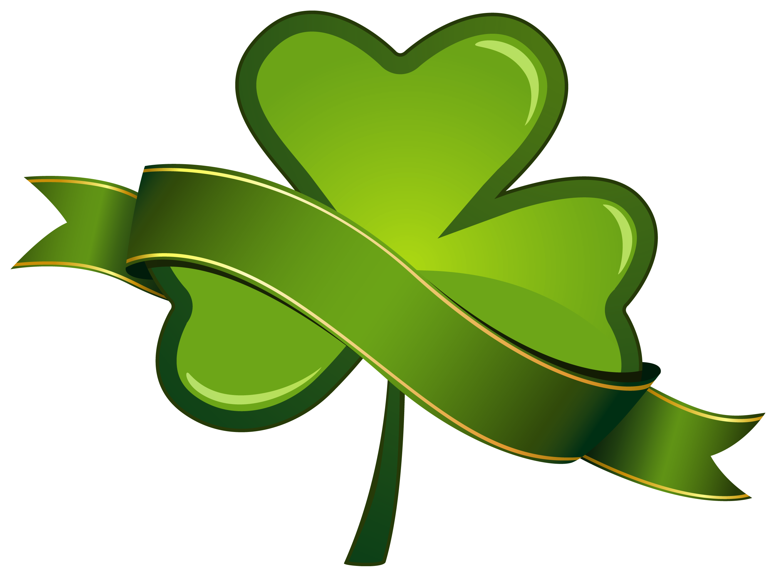 Saint Patrick Day Png - St Patricks Day Shamrock with Banner PNG Clipart   Gallery ...