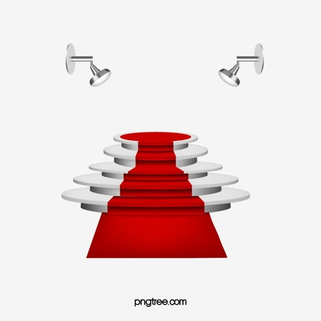 Stage Vector Png - Stage Vector Exquisite Red Carpet, Red Carpet, Spotlight, Stage ...
