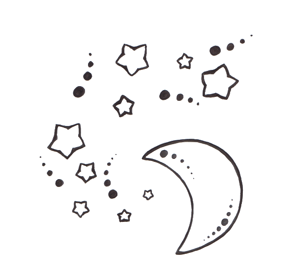Star And Moon Tattoo Design Sketch T 448506 Png Images Pngio