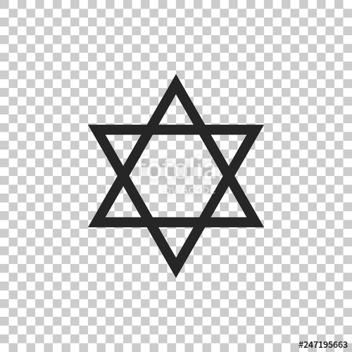 Star Of David No Background - Star of David icon isolated on transparent background. Jewish ...