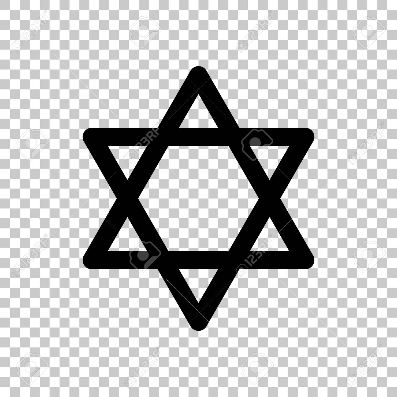Star Of David No Background - Star Of David, Simple Icon. On Transparent Background. Royalty ...