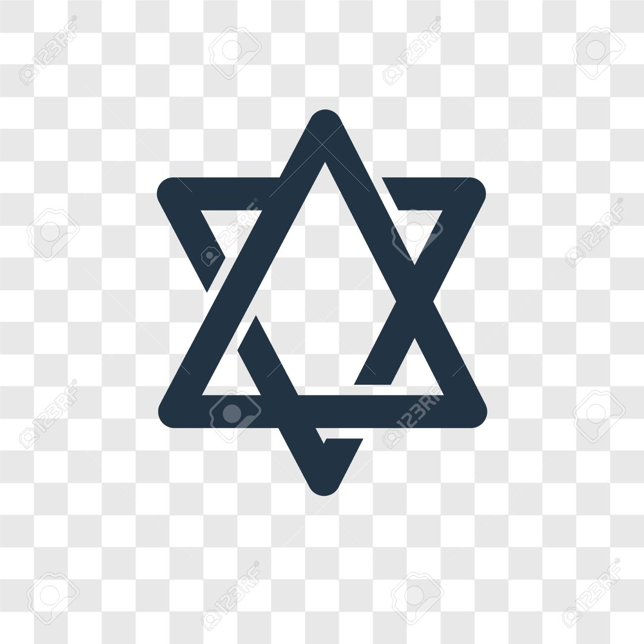 Star Of David No Background - Star Of David Vector Icon Isolated On Transparent Background ...