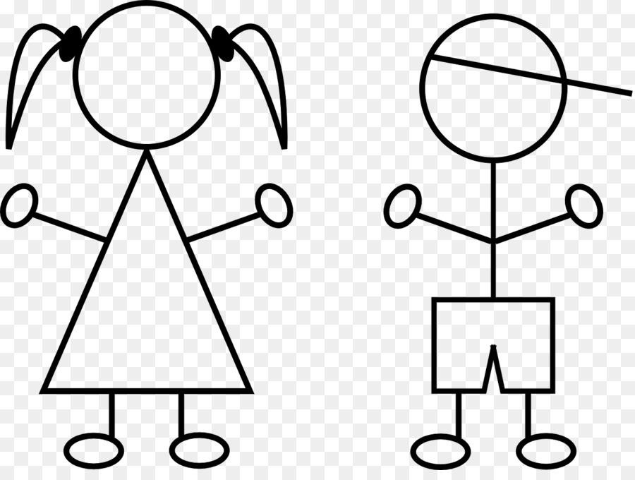Stick Figure Kids Png Black And White - Stick figure Drawing Clip art - kids drawing png download - 1280 ...