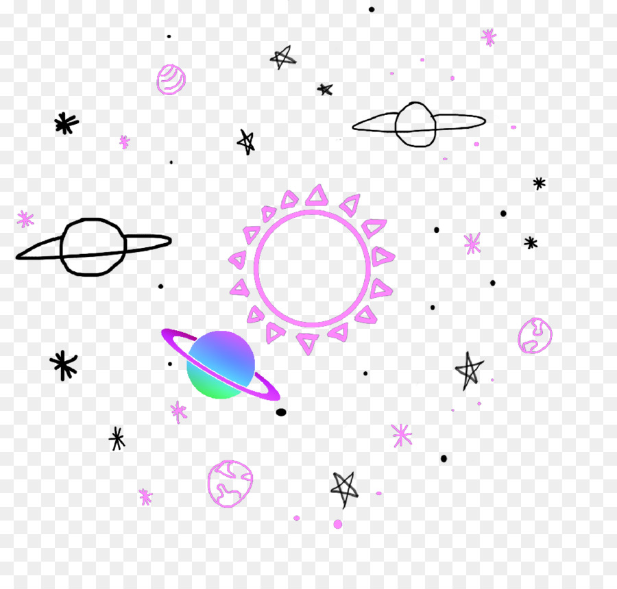 Cute Png Images - Sticker Universe Planet Galaxy Mountain #51245 - PNG Images - PNGio