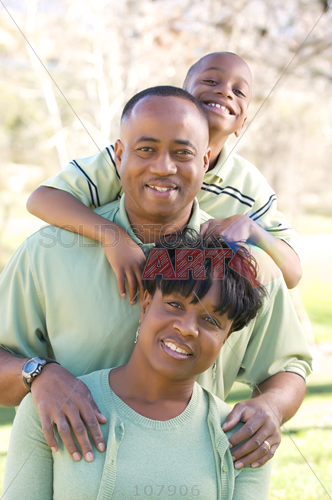 African American Boy And Mom Png - Stock Photo of African-american boy hugs dad shoulders holding on ...