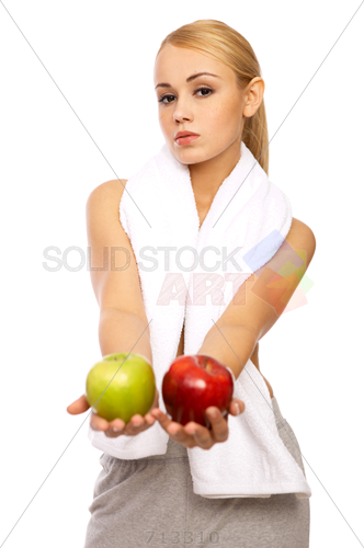 White Blonde Woman Png - Stock Photo of Fit young blonde woman in white sports bra holding ...